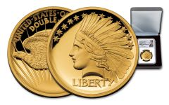 2017 1/2-oz Gold Double Eagle Indian High Relief NGC PF70UCAM Mercanti Signed