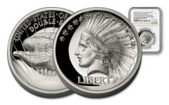 2017 1-oz Silver Double Eagle Indian High Relief NGC PF69UC