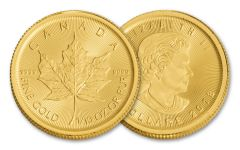 2018 Canada 1/10-oz Gold Maple Leaf Brilliant Uncirculated