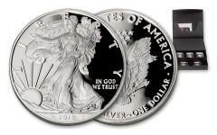 2018-D,P 1 Dollar 1-oz Silver Eagle NGC PF70UCAM Mercanti Moy Jones - Black