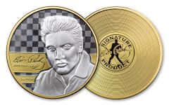 2018 1-oz Silver Elvis Gold Plated Proof-Like Commemorative
