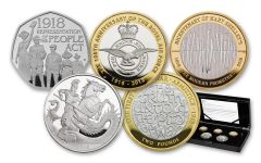 2018 Great Britain Silver Annual Proof 5PC Set