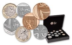 2018 Great Britain Silver Annual Proof Set 13pc