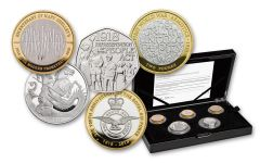 2018 Great Britain Silver Annual Piedfort Proof Set 5pc
