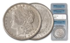 1898-1901-O Morgan Silver Dollar NGC/PCGS MS63 4pc Set