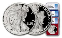 2018-W 1 Dollar 1-oz Silver Eagle NGC PF70UCAM FDI - Red White Blue 3pc Set