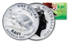 2018 Australia 1 Dollar 1-oz Silver Ravi The Red Panda BU