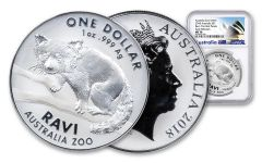 2018 Australia 1 Dollar 1-oz Silver Ravi The Red Panda NGC MS70