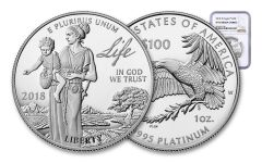 2018-W 100 Dollar 1-oz Platinum Eagle NGC PF70UCAM