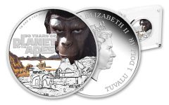 2018 Tuvalu 1-oz Silver 50th Anniversary Planet Of The Apes Proof