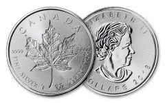 2018 Canada 1-oz Silver Incuse Maple Leaf Brilliant Uncirculated