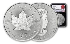 2018 Canada 1-oz Silver Incuse Maple Leaf NGC MS70 FDP 30th Anniversary Label - Black