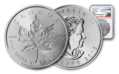2018 Canada 1-oz Silver Incuse Maple Leaf NGC MS69 First Releases