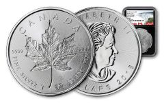 2018 Canada 1-oz Silver Incuse Maple Leaf NGC MS69 First Releases- Black Core