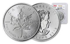 2018 Canada 1-oz Silver Incuse Maple Leaf PCGS MS69 First Strike