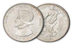 1953 Panama 1 Balboa Silver AU/BU