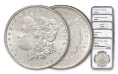 1878 Morgan Silver Dollar Variety Set NGC MS64 5pc