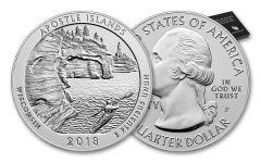 2018-P 25 Cent 5-oz Silver America The Beautiful Apostle Islands Specimen
