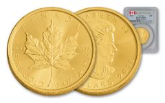2018 Canada $50 1-oz Gold Maple Leaf PCGS MS69 First Strike