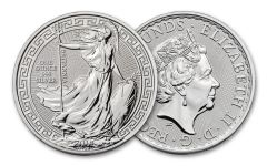 2018 Great Britain 1-oz Silver Britannia Oriental Border Brilliant Uncirculated