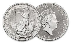 2018 Great Britain 100 lb 1-oz Platinum Britannia Brilliant Uncirculated