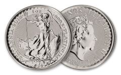 2018 Great Britain 100 lb 1-oz Platinum Britannia Brilliant Uncirculated