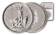 2018 Great Britain 100 Pound 1-oz Platinum Britannia NGC MS70 First Releases