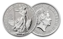 2018 Great Britain 2 Pound 1-oz Silver Oriental Border Britannia BU- 20pc