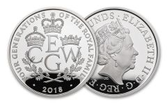 2018 Great Britain 5 Pound Silver Four Generations Piedfort Proof