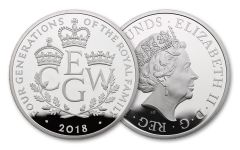 2018 Great Britain 5-oz Silver Four Generations Proof