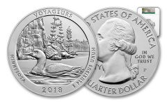 2018-P Voyageurs National Park 5-oz Silver America the Beautiful Specimen NGC SP70 Early Releases
