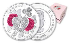 2018 Canada 3 Dollar 1/4-oz Silver Celebration Of Love Proof