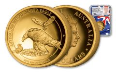 2018 Australia 100 Dollar 1-oz Gold Wedge Tailed Eagle High Relief NGC PF70UCAM FR Mercanti Signed