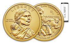 2018-D 1 Dollar Native American BU 25-Coin Roll