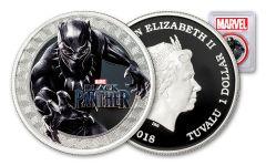 2018 Tuvalu 1 Dollar 1-oz Silver Black Panther PCGS PR69DCAM First Strike