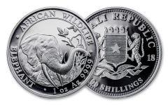2018 Somalia 100 Shilling 1-oz Silver Elephant Berlin World Fair BU