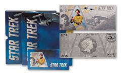 2018 Niue 1 Dollar 5 Gram Silver Star Trek Captain Kirk Coin Note