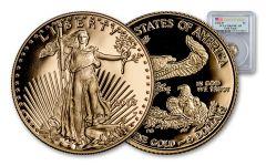 2018-W 5 Dollar 1/10-oz Gold Eagle PCGS PR69DCAM First Strike