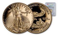 2018-W 10 Dollar 1/4-oz Gold Eagle PCGS PR70DCAM First Strike