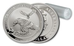 2018 Australia 1-oz Silver Wedge Tailed Eagle Uncirculated Mint Roll 20pc