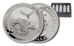 2018 Australia 1-oz Silver Wedge Tailed Eagle Uncirculated Mint Tray 500pc