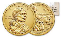 2018-D 1 Dollar Native American BU 100-Coin Bag