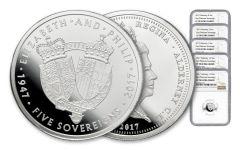 2017 Great Britain Platinum Sovereign NGC PF70UCAM 5pc Set