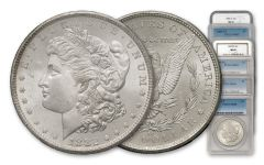 1880-1885-CC Morgan Silver Dollar NGC/PCGS MS65 6pc