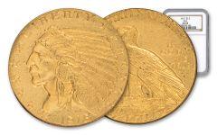 1915-P 2.50 Dollar Gold Indian NGC AU58 GSA