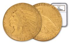 1911-S 5 Dollar Gold Indian NGC AU58 GSA