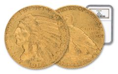 1914-D 5 Dollar Gold Indian NGC AU58 GSA