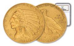 1915-P 5 Dollar Gold Indian NGC AU58 GSA