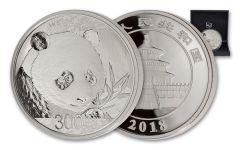 2018 China 1 Kilo Silver Panda Proof