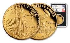 2018-W 50 Dollar 1-oz Gold Eagle NGC PF70UCAM First Day Of Issue Washington DC Mercanti Signed